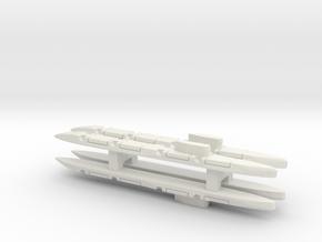 Echo-Class SSGN x 4, 1/1800 in White Natural Versatile Plastic