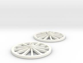 Wagon Wheels in 1/35 scale in White Processed Versatile Plastic