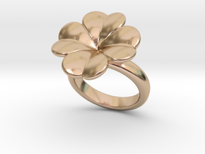 Lucky Ring 28 - Italian Size 28 in 14k Rose Gold Plated Brass