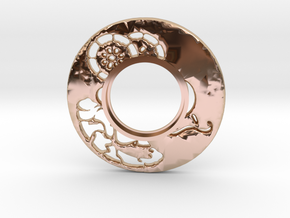 MHS compatible Tsuba 6 in 14k Rose Gold