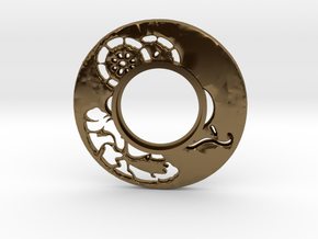 MHS compatible Tsuba 6 in Polished Bronze
