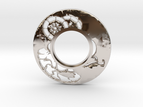 MHS compatible Tsuba 6 in Rhodium Plated Brass