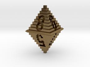 d8 Pixel Pyramid in Natural Bronze