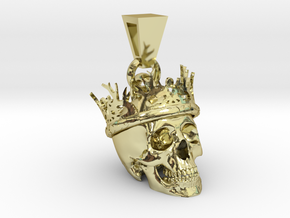 SKULL CROWN PENDANT in 18k Gold Plated Brass