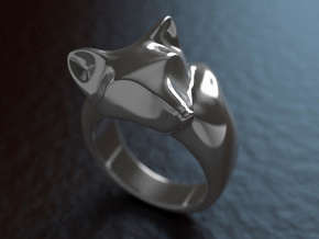 Fox Ring (size 7) in Red Strong & Flexible Polished