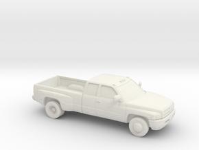 1/64  1994-01 Dodge Ram Extendet Cab Dually in White Natural Versatile Plastic