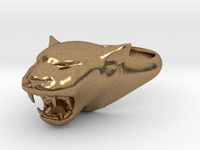Cougar-Puma Ring , Mountain lion Ring Size 5 in Natural Brass