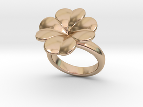 Lucky Ring 32 - Italian Size 32 in 14k Rose Gold Plated Brass