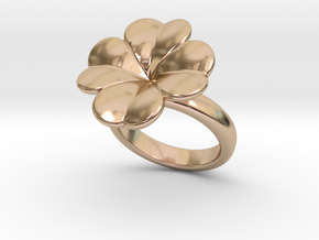 Lucky Ring 33 - Italian Size 33 in 14k Rose Gold Plated Brass