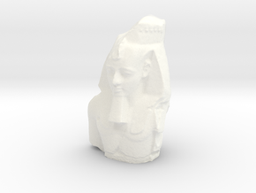 Ramesses II (1279 – 1213 BC), The Colossal Bust of in White Processed Versatile Plastic