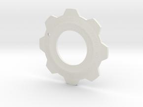 Gears of War Cog Tag v2 in White Natural Versatile Plastic