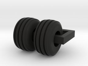 19L Steer Tire for 6030 in Black Natural Versatile Plastic