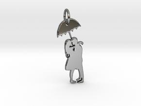 Couple under umbrella in Premium Silver
