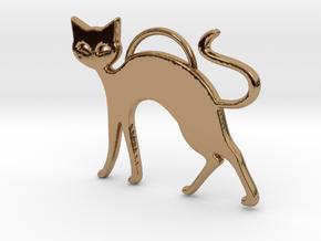 Slinky Cat in Polished Brass