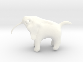 Thoth Dog in White Processed Versatile Plastic