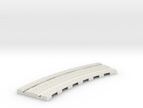 P-165stw-curve-tram-long-204r-plus-w-1a in White Natural Versatile Plastic
