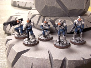 House Etryn Puritan Squad, 28mm in White Natural Versatile Plastic