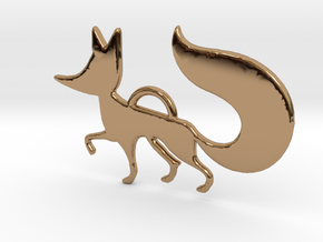 The little Fox in Polished Brass