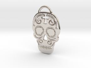Skull with pattern in Platinum