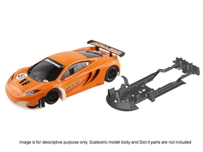 S09-ST2 Chassis for Scalextric McLaren GT3 STD/STD in White Processed Versatile Plastic