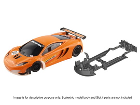 S09-ST4 Chassis for Scalextric McLaren GT3 SSD/STD in White Strong & Flexible Polished