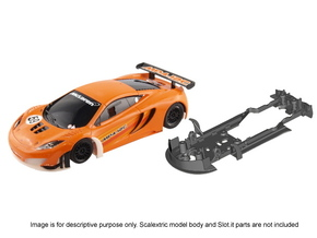 S09-ST1 Chassis for Scalextric McLaren GT3 STD/LMP in White Strong & Flexible Polished