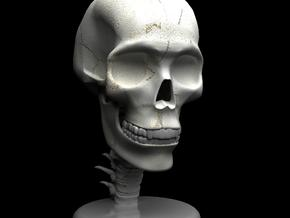 "Skull - 4"" tall in White Strong & Flexible"