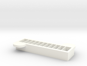 Cavity Top in White Processed Versatile Plastic