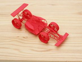 Race Car in Red Processed Versatile Plastic