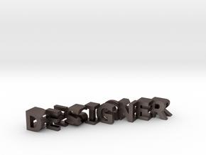 FontFlip DESIGNER-ENGINEER in Polished Bronzed Silver Steel