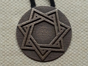 Septagram Pendant in Matte Bronze Steel