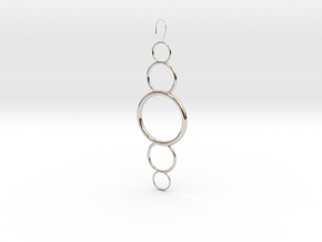 Circles in Rhodium Plated Brass
