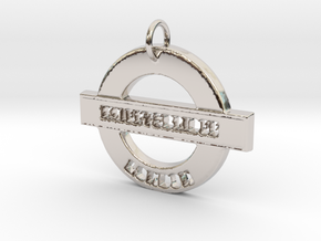 Knightsbridge Sign in Rhodium Plated Brass