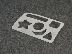 Pocket Stencil in Frosted Ultra Detail