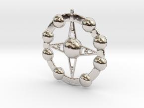 Astēr Planētēs - Pendant in Rhodium Plated Brass