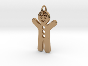 Gingerbread Man in Polished Brass