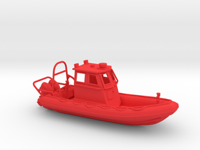 RIB Zodiac hurricane. 1:100 Scale  in Red Processed Versatile Plastic