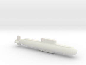 032 submarine, Full Hull, 1/2400 in White Natural Versatile Plastic