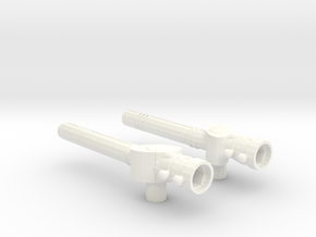 Two-Piece Battlestaff in White Processed Versatile Plastic