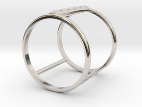 Model Double Ring B in Platinum