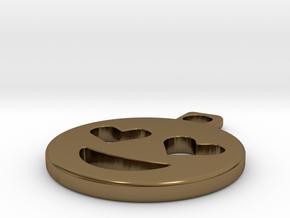 emoji in Polished Bronze