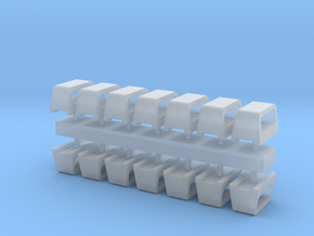 1:96 scale Standard Chock Sets - set of 12 in Smooth Fine Detail Plastic