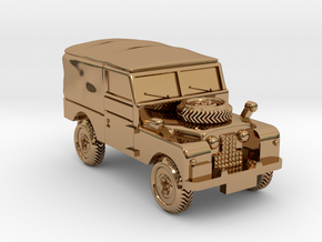 TT Gauge - Four By Four Landrover in Polished Brass