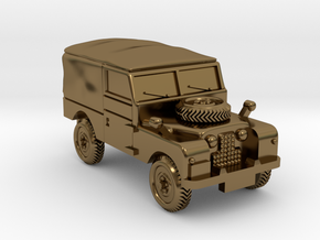 TT Gauge - Four By Four Landrover in Polished Bronze