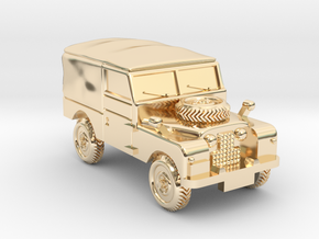 TT Gauge - Four By Four Landrover in 14k Gold Plated Brass