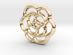 Camellia Charm - 11mm in 14K Yellow Gold
