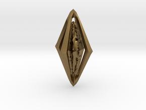 Rune Diamond in Natural Bronze