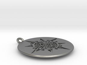 Maya Sun Necklace in Natural Silver