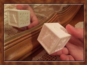 ONE Shape And Texture Dice in White Processed Versatile Plastic