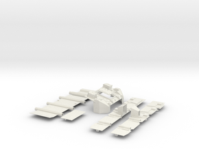 Stryker APC Bottom Kit(1:18 Scale) in White Natural Versatile Plastic